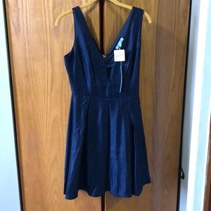 Dresses & Skirts - Navy Fit and Flare Dress